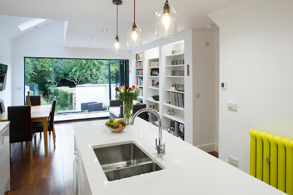 House and kitchen with extension