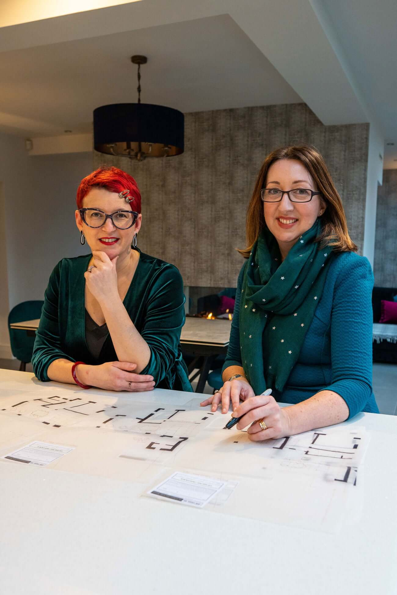 Pride Road Architects Franchise Founder Lisa Raynes with Laura Simpkins, RIBA Chartered Architect and Franchisee for Pride Road New Forest & Bournemouth